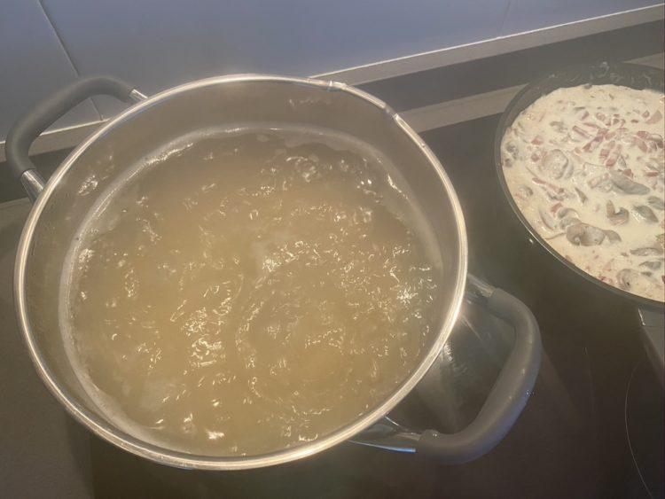 Hervir los espagueti