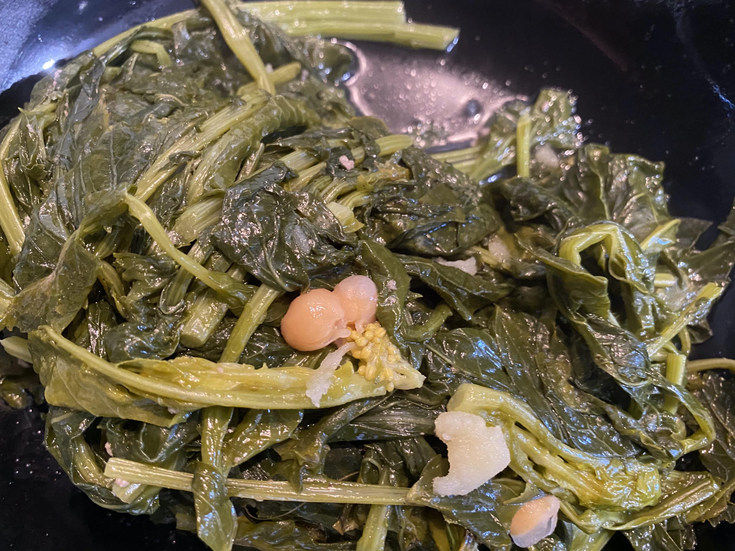 Cocido gallego grelos cocidos